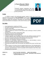 CV of Fayyaz Hussain Maitlo
