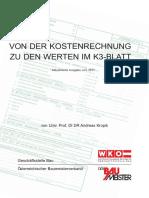 Broschuere Herleitung K3-Blatt-Werte Aus Kostenrechnung 1 3