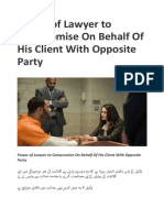 Power of Lawyer to Compromise on Behalf of His Client With Opposite Party – My Blog