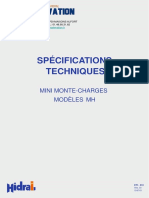 Specifications Techniques MH