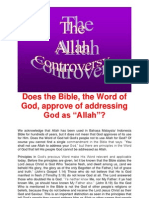 Does the Bible, The Word of God, Approve of Addressing God as Allah