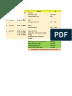 HSE Audit Agenda - Lot 4