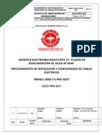 Procedimiento Instalacion y Conexionado de Cables Electricos