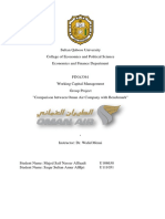 Working Capital Project - Oman Air Benchmarking