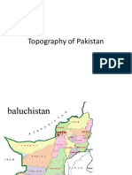 Topography of Pakistan