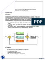 Pid Control of System Linear Control Systems Lab Report