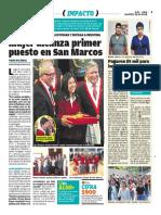 Mujer Gana Primer Puesto en San Marcos - Peru - Diario Ojo marzo 2018