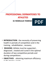 Professional Dermatoses to Athletes