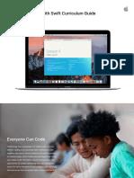 App Development With Swift Curriculum Guide