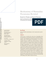 2006 Biochemistry of Mammalian Peroxisomes Revisited