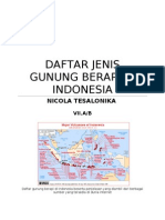 Daftar Jenis Gunung Berapi Di Indonesia