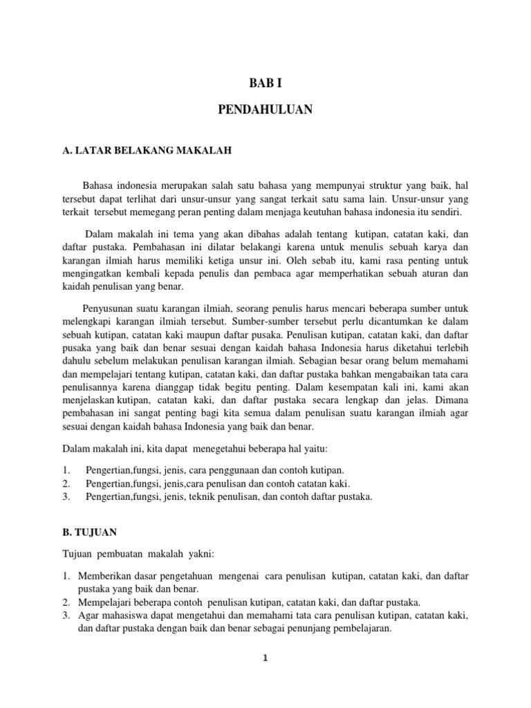 Makalah Kutipan Bahasa Indonesia Yulia