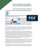 Antonio Gentile, Diseño Un Reactor Nuclear Para Los Submarinos Argentinos