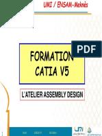 4.Présentation++ (Atelier Assembly Design) CATIA V5 -(2éme année)