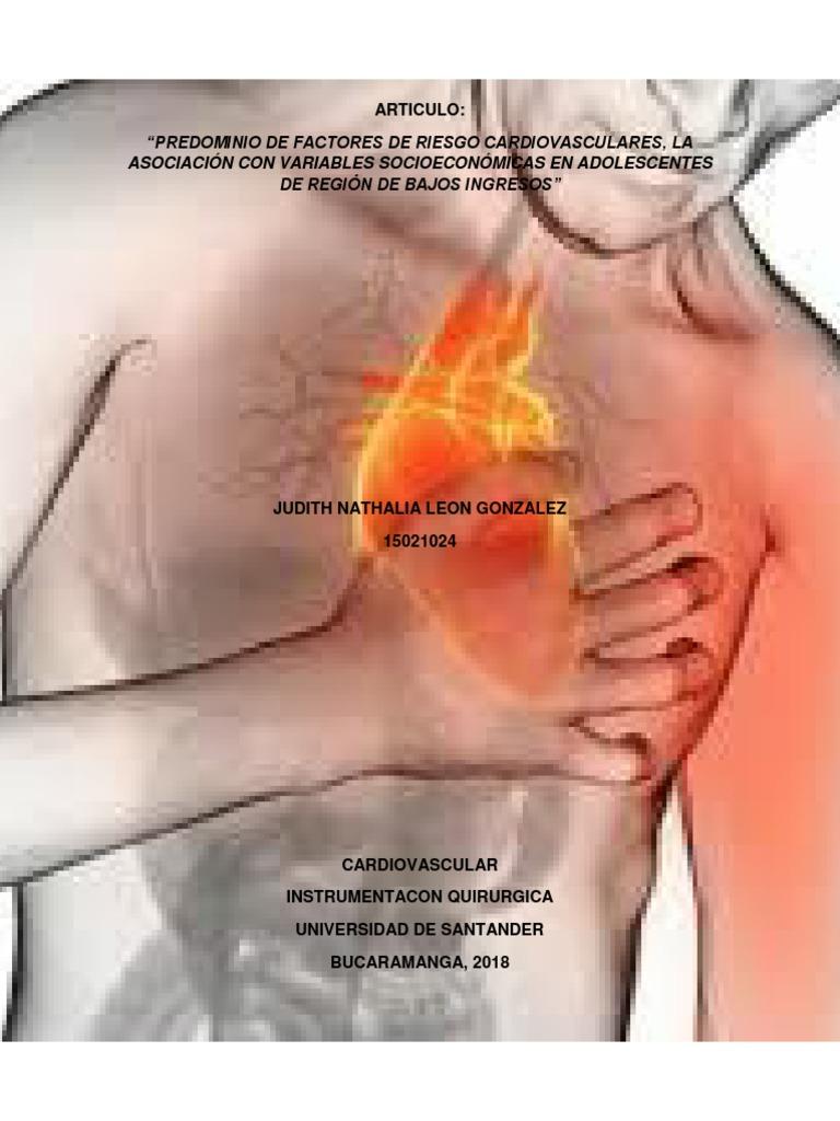 Factores riesgo cardiovascular ingles