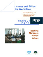Paper Teaching Managers Human Values Posted to Website