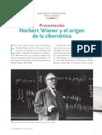 Sergio Rajsbaum - Eduadro Morales - Norbert Wiener y el origen  de la cibernética