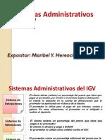 Sistemas Administrativos Del IGV