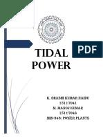 Tidal Power Report