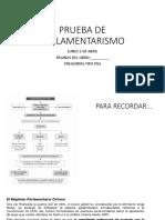 Clase Parlamentarismo of Prueba 26 de abril