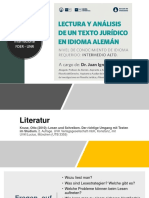 Clase 1 - Curso Lectura de Un Texto Jurídico en Alemán - JICh