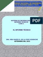 Clase 2 El Informe Técnico