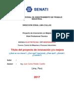 Proyecto de Innovación y Mejora Nivel Profesional Técnico 2017 Detallado OK