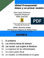 Inflexibilidad presupuestal de Echeverry, Fergusson y Querubin