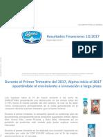 Estados Financiaros 2017 - Alpina SA.