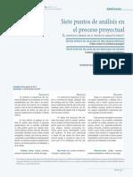 Siete Puntos de  Analisis en El Proceso Proyectual