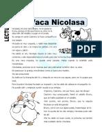 Ficha de La Vaca Nicolasa Para Primaria (1)