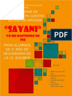 SAYANI Programa Preventivo Contra Drogas Modificado