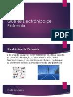 Qué Es Electrónica de Potencia