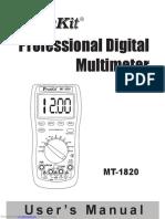 Multimetro Digital Pro'Skit Mt 1820