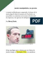 Sujetos Felizmente Manipulados, No Gracias_Slavoj Zizek