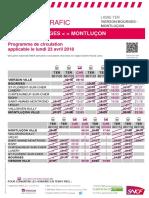 Vierzon - Bourges - Montluçon (23 avril)