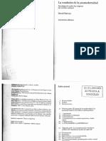 Harvey D 1990 La Condicion de La Posmodernidad Investigacion Sobre Los Origenes Del Cambio Cultural