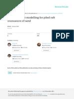 Finite Element Modelling for Piled Raft Foundation