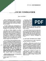 Gaultier, Patrice - La Peur de commander (1974)