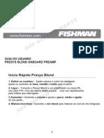 Manual Presys Blend Portugues