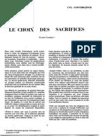 Gaultier, Patrice - Le Choix des sacrifices (1973)