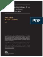 Josef Albers.proceso y Grabado Catalog