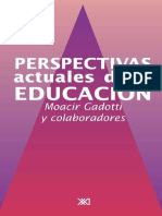 Moacir Gadotti Perspectivas Actuales de La Educacion