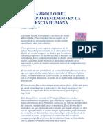 El Desarrollo Del Principio Femenino en La Conciencia Humana