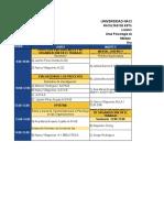 Horarios 2014-2 Cuarto Semestre Psicología Del Trabajo y Las Organizaciones