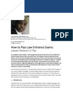 How to Pass the Law Entrance Exams - Lawyer Dickson's 5 Proven Tips .