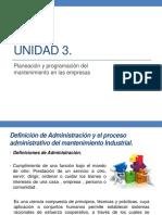 1. Proceso Administrativo Del Mantenimiento