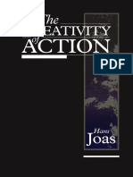Livro Hans Joas the Creativity of Action
