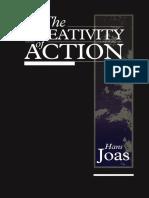 Livro Hans Joas the Creativity of Action