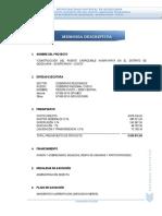 2013 Memoria Descriptiva Huaraypata